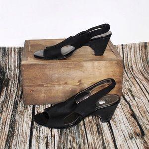 🎀 3/$30 Alia Black Sandal Chunky Heels